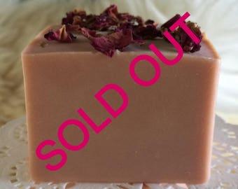 Rose Soap, Olive Oil Soap, Gift For Her