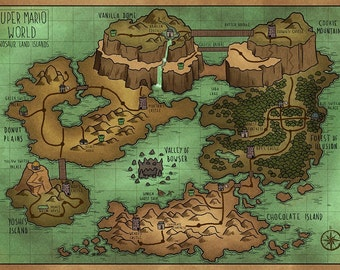A Map of Super Mario World's Dinosaur Land