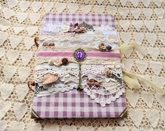 "Handmade Notebook A5 Lace ""Paris, Paris"""