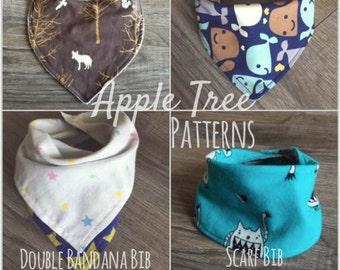 Apple Tree Drool Bibs 4 Pattern Pack! *PDF Download*