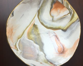 Unique Handmade Clay Jewelry Dish