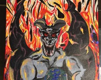 My Demons, Acrylic on canvas, 16x20