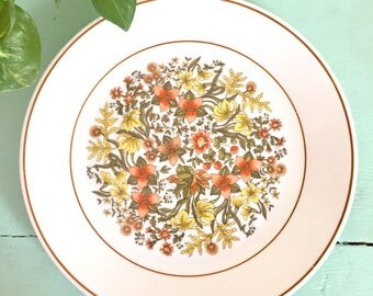 Set of Floral Plates