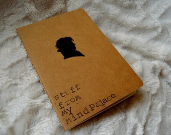 Sherlock holmes A5 notebook, mind palace, lined, sherlocked