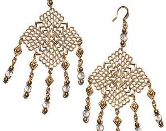 Lovely Socialite Edie Sedgwick Inspired earrings