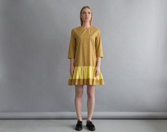 NEW! Women yellow dress - Frilled bottom dress - Women summer dress - Womens fashion dress - Maternity spring dress - Sun yellow dress