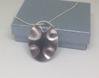 Large Pendant/charm with up to 4 fingerprints (oval)