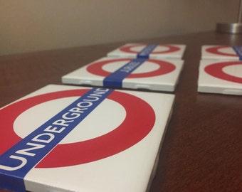 London Tube/Underground Line Sign Coasters