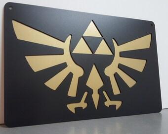 Zelda Wingcrest Triforce Metal Wall Art