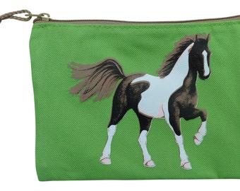 Horse pencil case - green