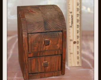 Vintage Desktop Miniature Wooden Drawers