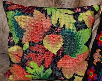 Cross Stitch Pillow Forest