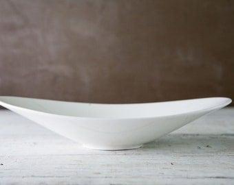 Unique White Ceramic Bowl-Food Photography Prop