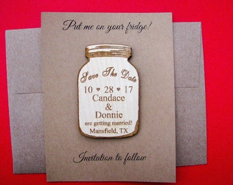 Mason jar save the date magnet SAMPLE only