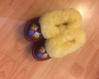 Children Sheepskin Slippers