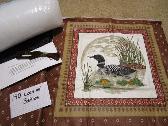 Loon w/Babies - Pillow Quilt Kit