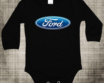 Baby Body  FORD Logo TEE CAR Short/Long Sleeves Black
