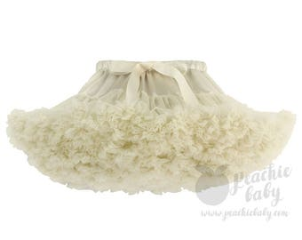 Ivory Deluxe Fluffy Chiffon Pettiskirt for Girls