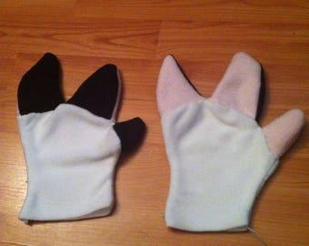 Custom fleece hoof hands