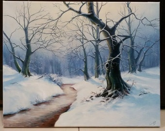 Winter Tale - Oil Painting