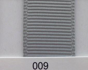 "3/8"" / 10mm Solid Grosgrain Ribbon LIGHT SILVER #009 X 2 METERS"