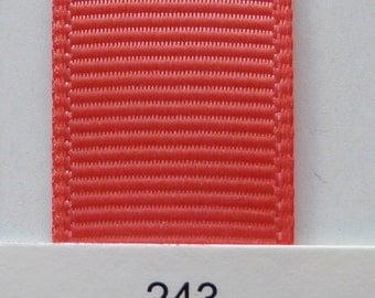 "3/8"" / 10mm Solid Grosgrain Ribbon WATERMELON #243 X 2 METERS"