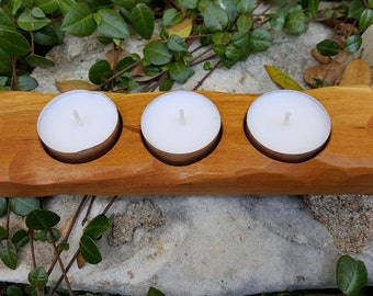 Tealight Candle Holder, Wood Candle Holder, Rustic