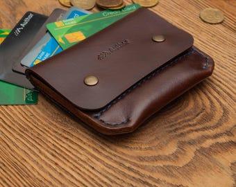 Slim wallet minimalist wallet leather wallet mens wallet wallet personalized wallet card wallet thin wallet credit card wallet card wallet