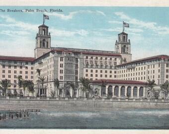 Palm Beach, Florida Vintage Postcard - The Breakers Hotel