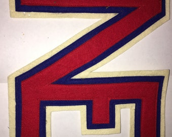 Vintage NE New England University Felt Jacket Patch #40