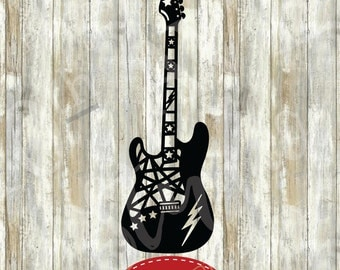 Electric Guitar SVG/EPS/DXF/png Clipart Vector Files cut files
