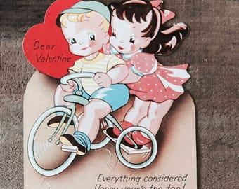 Sugar Mama Sugar Pop Valentine // Vintage Valentine Bicycle Couple 1930's Era
