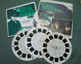 Vintage 1966 Viewmaster The Green Hornet 3 Reel Set