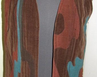 Hand Screened Original Design Quilted Vest