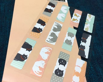 Index sticker from japan -cat kawaii