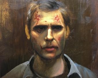 Lucifer (Supernatural) oil painting