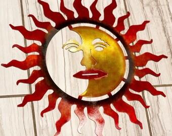 Metal Sun, Laser cut Metal Sun, Laser cut wall art, wall art, Wall decor, metal sun wall art, Metal sun wall decor, Sunshine wall decor, sun
