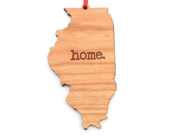 Illinois home. Christmas Ornament - IL Illinois State Ornament - Home Christmas Ornament