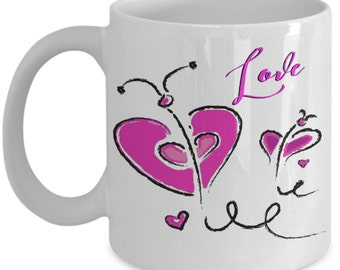 Butterflies Coffee Mug. Love Coffee Mugs. Great Gift For Any Occasion!