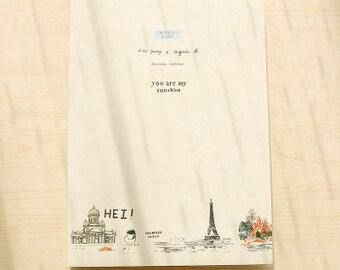 Paris-  notebook, Minimalist blank Notebook, Journal, Planner, Journal Insert, Planner Insert