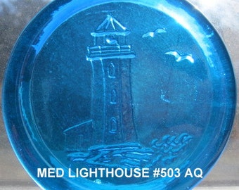 "Medium Cape Cod Lighthouse Pressed Glass Suncatcher Ornament - Size 3 1/2"" +"