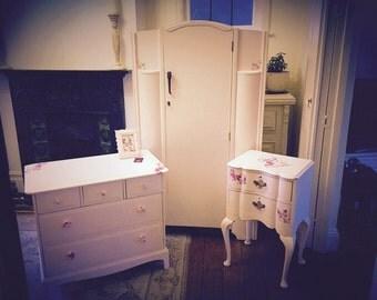 Upcycled vintage bedroom set