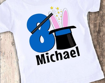 Magic Magician  custom designed birthday t shirt tshirt personalized