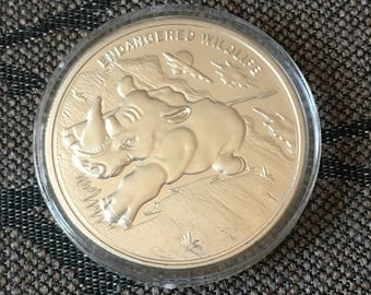 Endangered wildlife Rhino Commemorative Coin