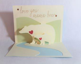 Mother's Day Card, Card for Mom, Mama Bear Card, Birthday Card, Mothers Day Card, Simple Card, Mom Card, Notecard, Momma Bear Card,