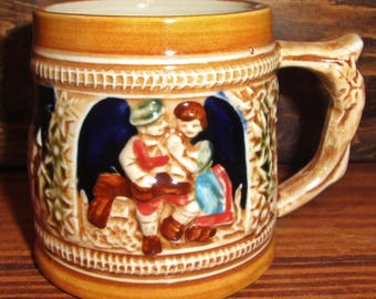 Vintage Sanyo Decorative Stein Beer Mug Cup Made in Japan Collectable