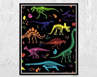 dinosaur print, dinosaur art, dinosaur prints, dinosaur poster, dinosaur decor, dinosaur nursery, dinosaurs, boys room decor, dino print