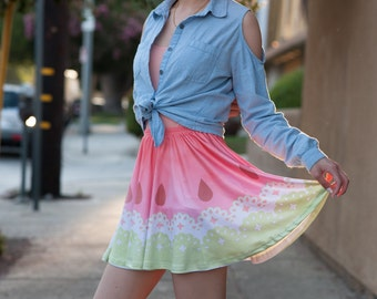 Watercolor Watermelon Skirt (SALE!)