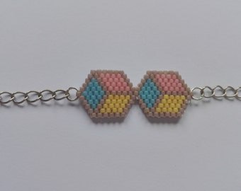Bracelet beads miyuki - cubes