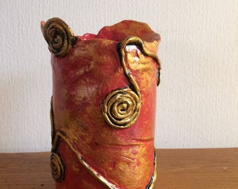 now at arianabianchiartes: atmospheric handmade Baroque vase